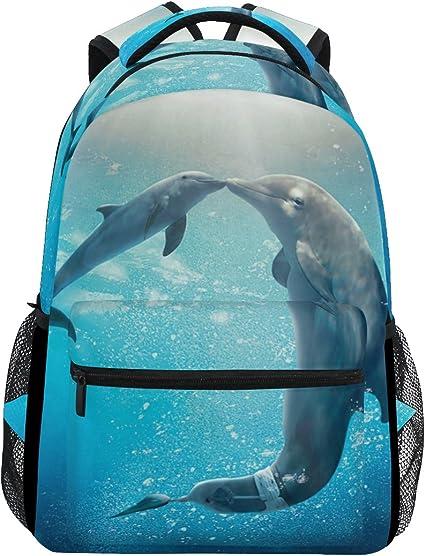 Animal Dolphin Men/'s Backpacks School Bag Bookbag Rucksack Shoulder Satchel