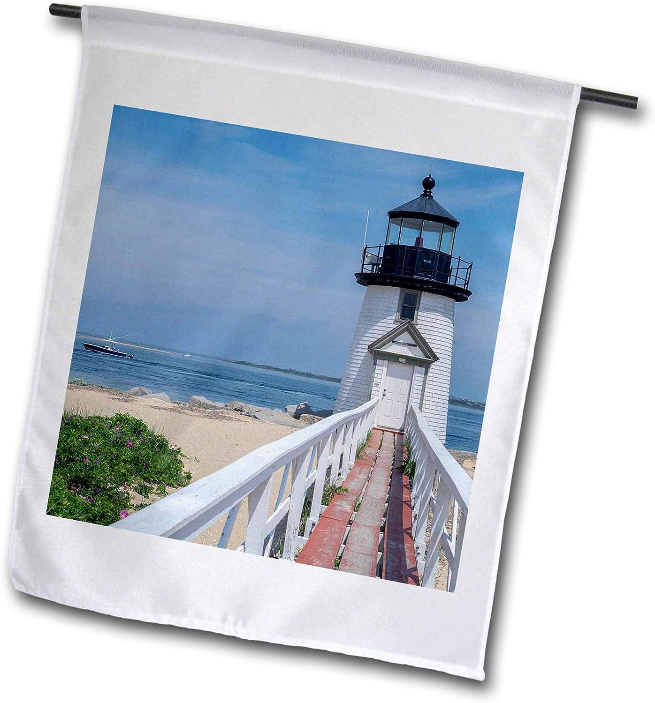3dRose Danita Delimont - Massachusetts - Brant Lighthouse, Nantucket Harbor, Nantucket, Massachusetts, USA. - 12 x 18 inch Garden Flag (fl_314838_1)