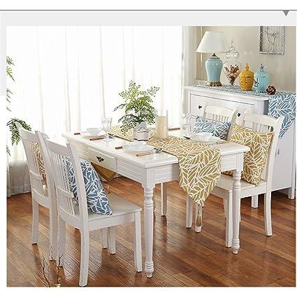 De battar Vintage Natural rectángulo Camino de mesa sencilla moderna floral mesa bandera para Boda rústico