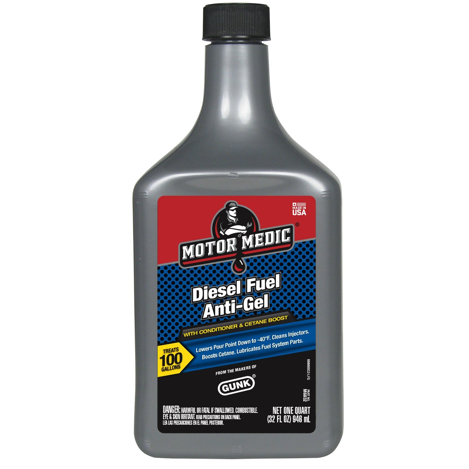 Motor Medic M6932-12PK Diesel Fuel Anti-Gel with Conditioner and Cetaine Boost - 32 oz., (Case of 12)