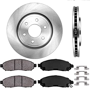 Front Ceramic Brake Pads w//Clips For Nissan Frontier Pathfinder Xterra Equator