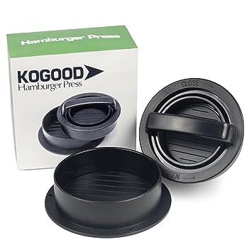 kogood hamburguesa prensa - mejor Patty Maker - 3 en 1 hamburguesa rellena prensa - # 1 en barbacoa accesorios - hacer un chef comida por usted mismo: ...