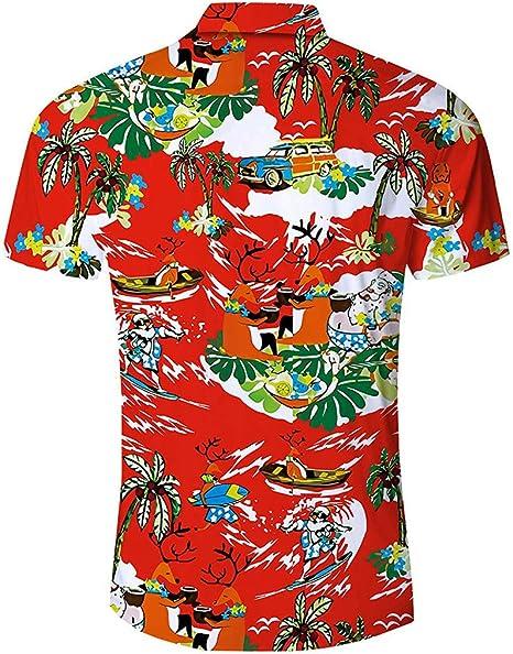Cocoty-store 2020 Camisa Hawaiana de Manga Corta - para Hombre - Sale: Amazon.es: Ropa y accesorios