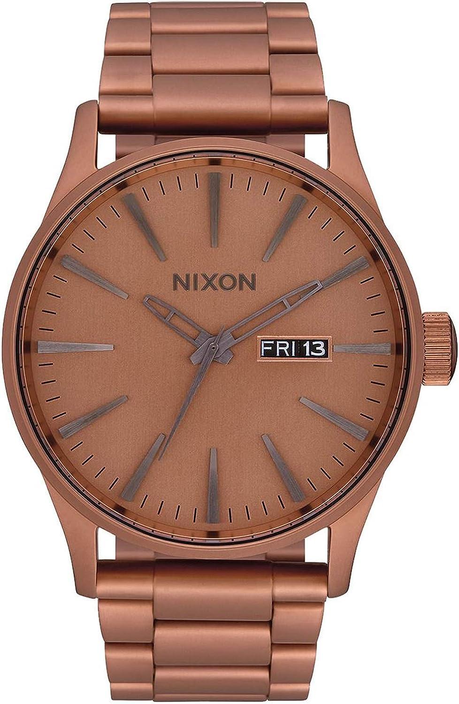 Nixon Sentry SS Reloj para Mujer Analógico de Cuarzo japonés con Brazalete de Acero Inoxidable bañado en Oro A3563165