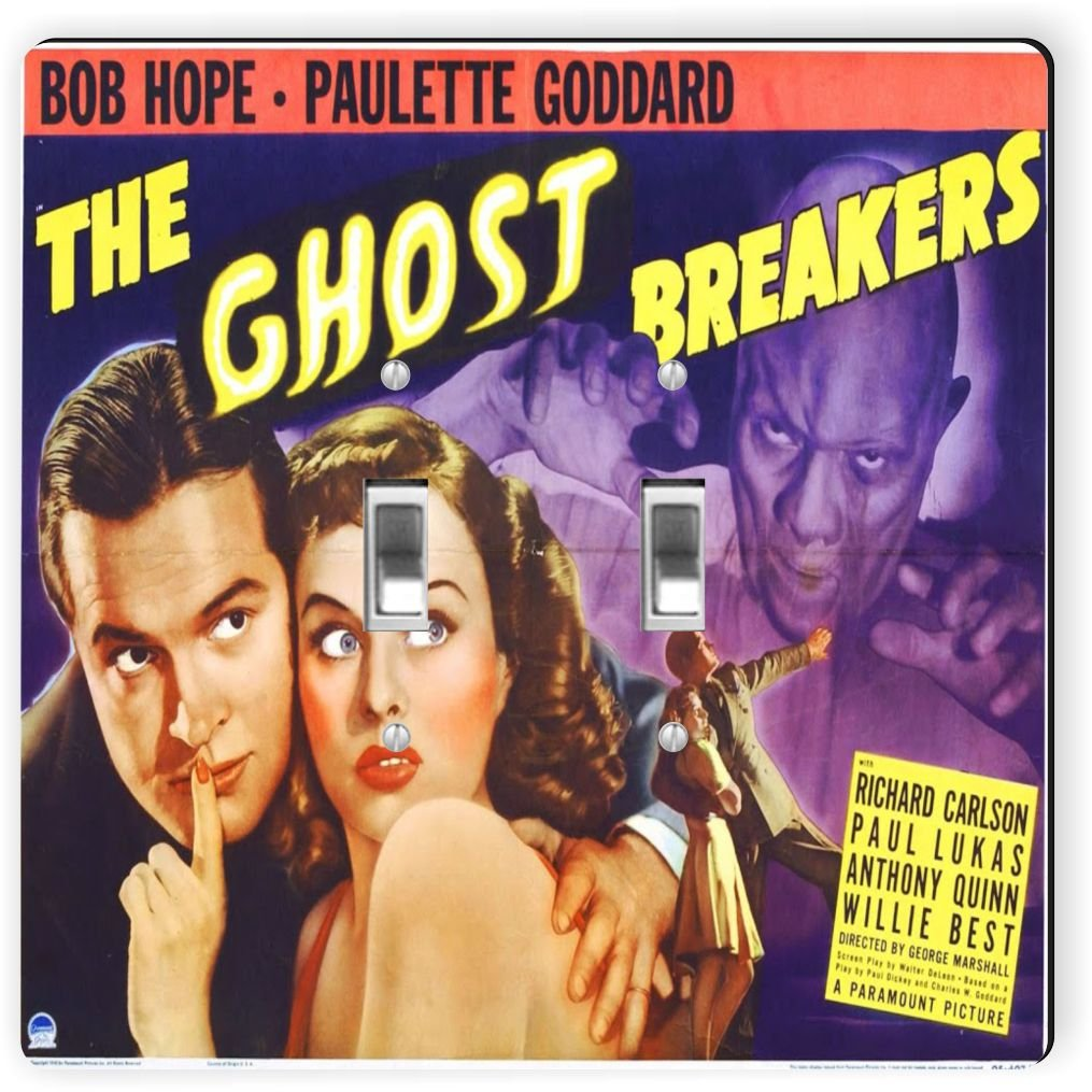 Rikki Knight 3710 Double Toggle Vintage Movie Posters Art Ghost Breakers 2 Design Light Switch Plate
