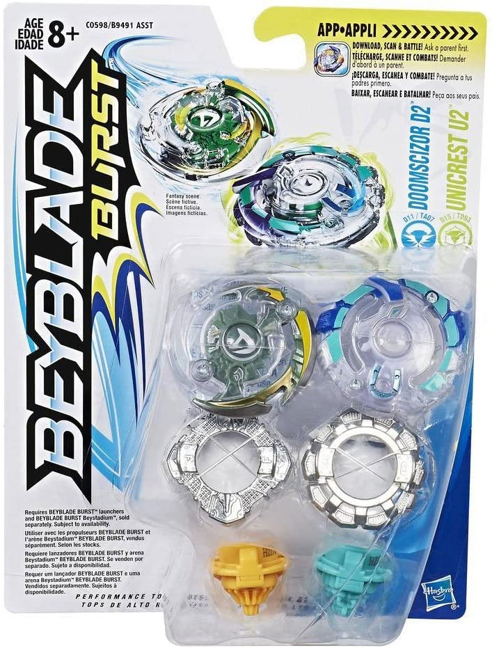 Hasbro Beyblade Burst Dual Pack Doomscizor D2 and Unicrest U2 ...