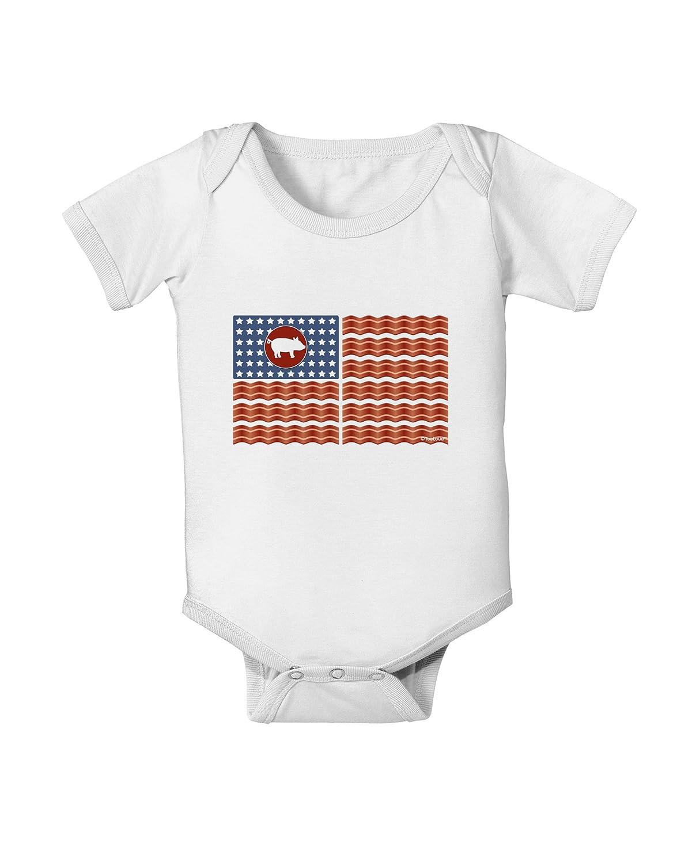 TooLoud American Bacon Flag Baby Romper Bodysuit