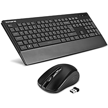 278c5fd0b03 Wireless Keyboard and Mouse Combo UK, [Ultra Slim & Quiet, Longer Battery  Life