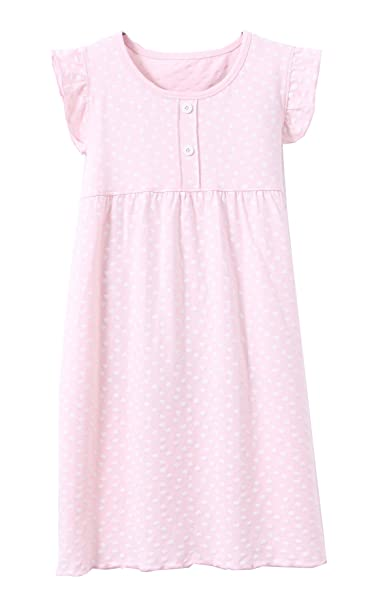UK Toddler Baby Girl Princess Party 100/% Cotton Dress Ruffle Nightgown Sleepwear