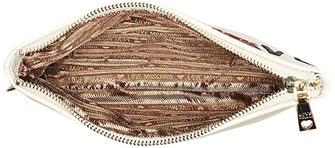Borsa Calf Pu Avorio, Womens Shoulder Bag, Wei? (Ivory), 18 x 24 1 cm (wxhxd) Love Moschino