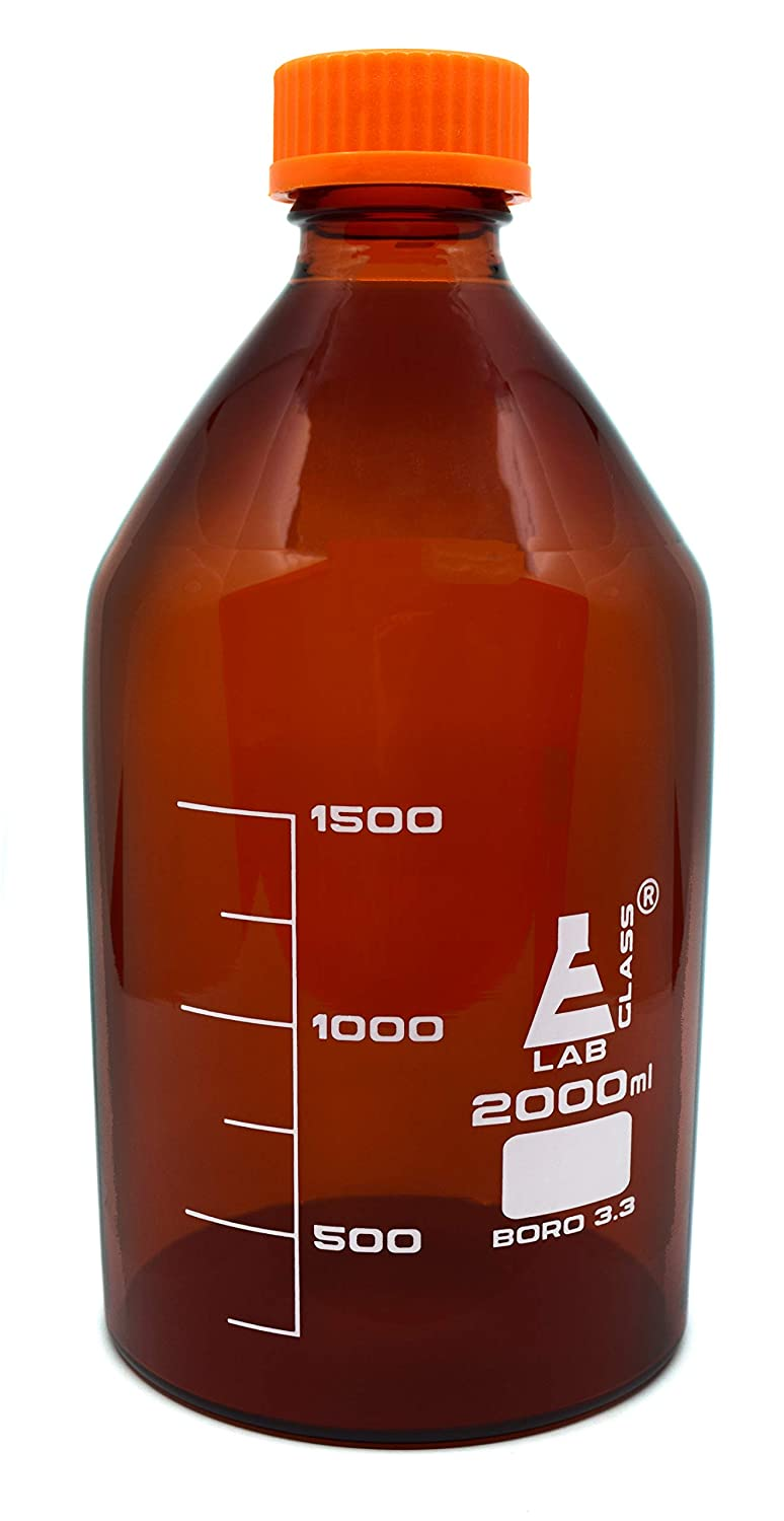 Eisco Labs 2000ml Amber Reagent Bottle with Screw Cap