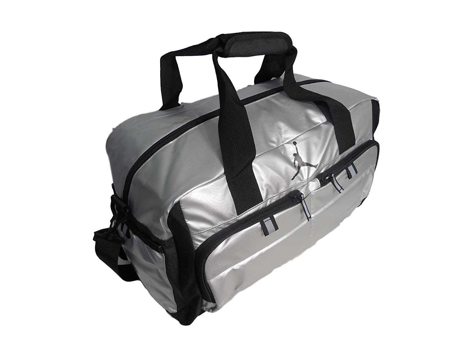 Amazon.com: Nike AIR JORDAN JUMPMAN All World Sport Duffel Bag -  Silver/Black (9A12639-250 ), O/S: Sports & Outdoors