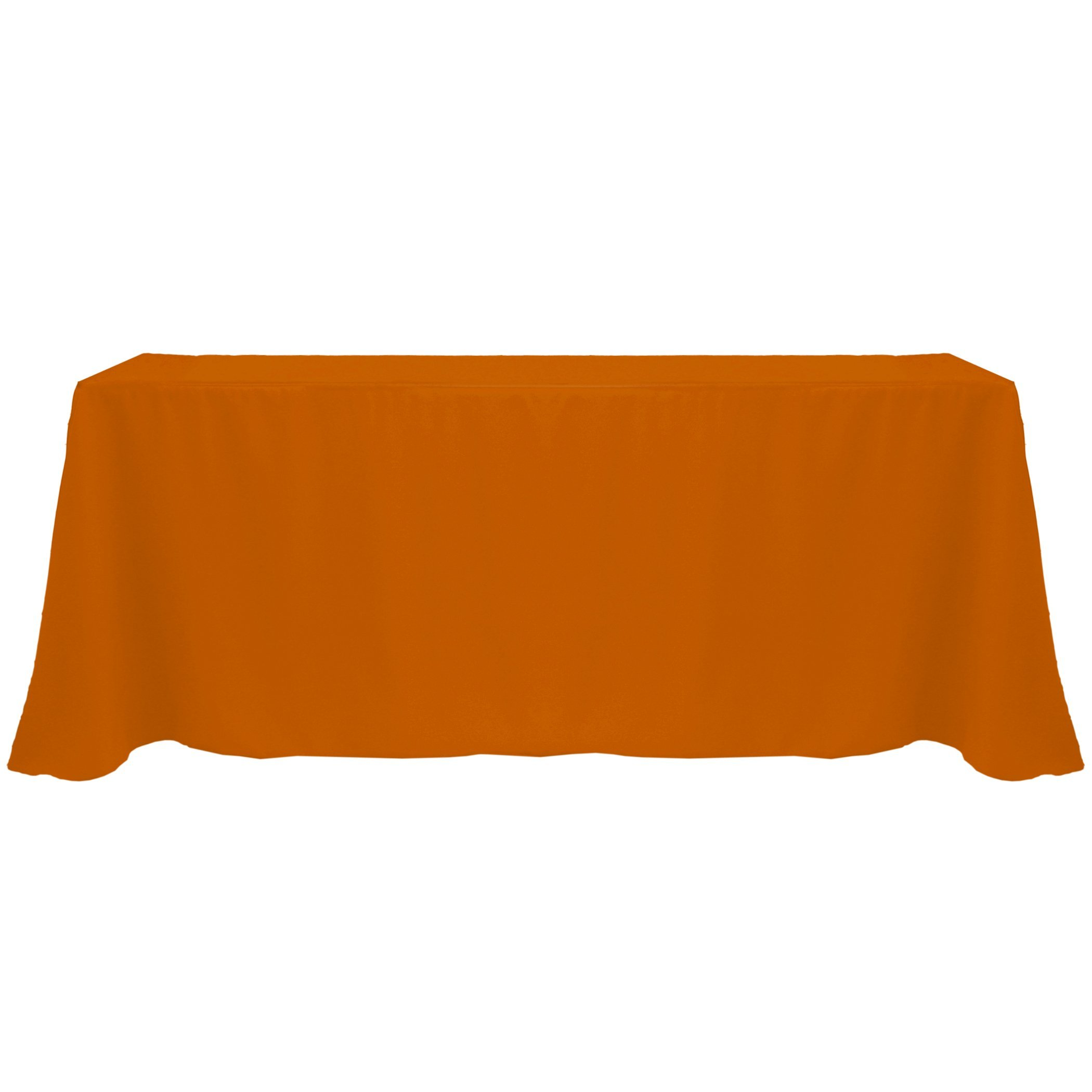 Ultimate Textile (20 Pack) 90 x 132-Inch Rectangular Polyester Linen Tablecloth with Rounded Corners - for Wedding, Restaurant or Banquet use, Burnt Orange