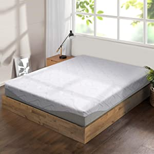 "Best Price Mattress 9"" Gel Infused Memory Foam Mattress, Full, White"