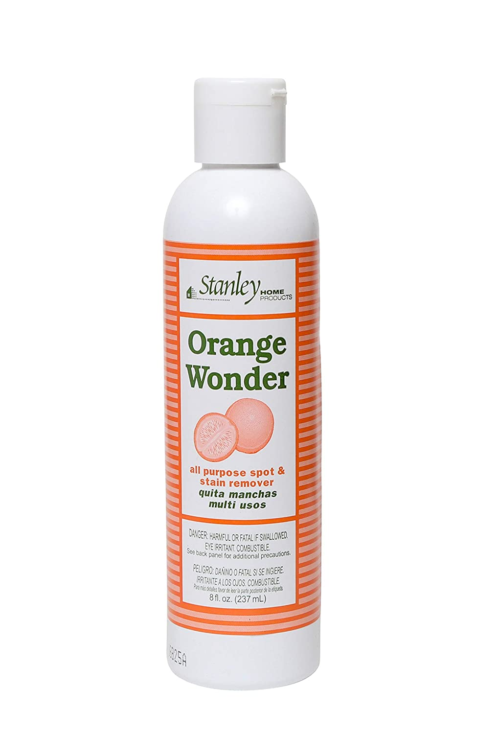 Stanley Home Products Orange Wonder All-Purpose Spot and Stain Remover - Eco-Friendly Oil & Grease Cleaning & Laundry Detergent for Baby & Kid's Clothing, Carpet, Furniture, Couch & Car Interior