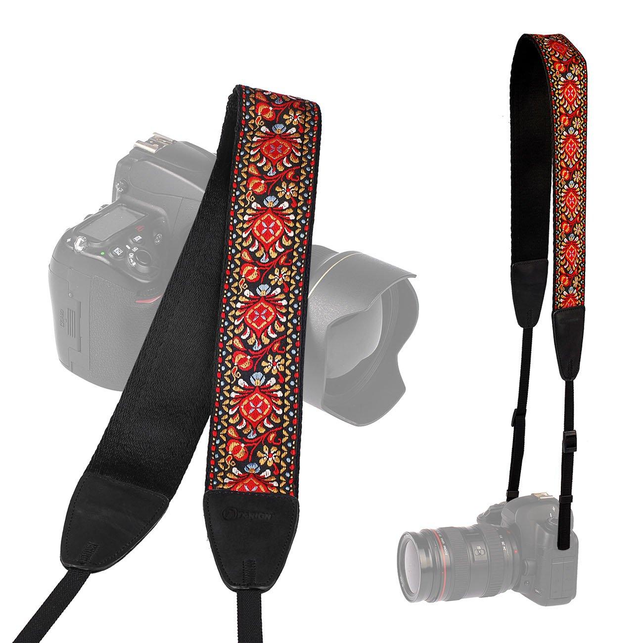TARION Camera Shoulder Neck Soft Vintage Jacquard Weave Strap Belt for SLR DSLR Mirrorless Digital Cameras Nikon Canon Sony Pentax B Style Camera-Strap-LT-02K