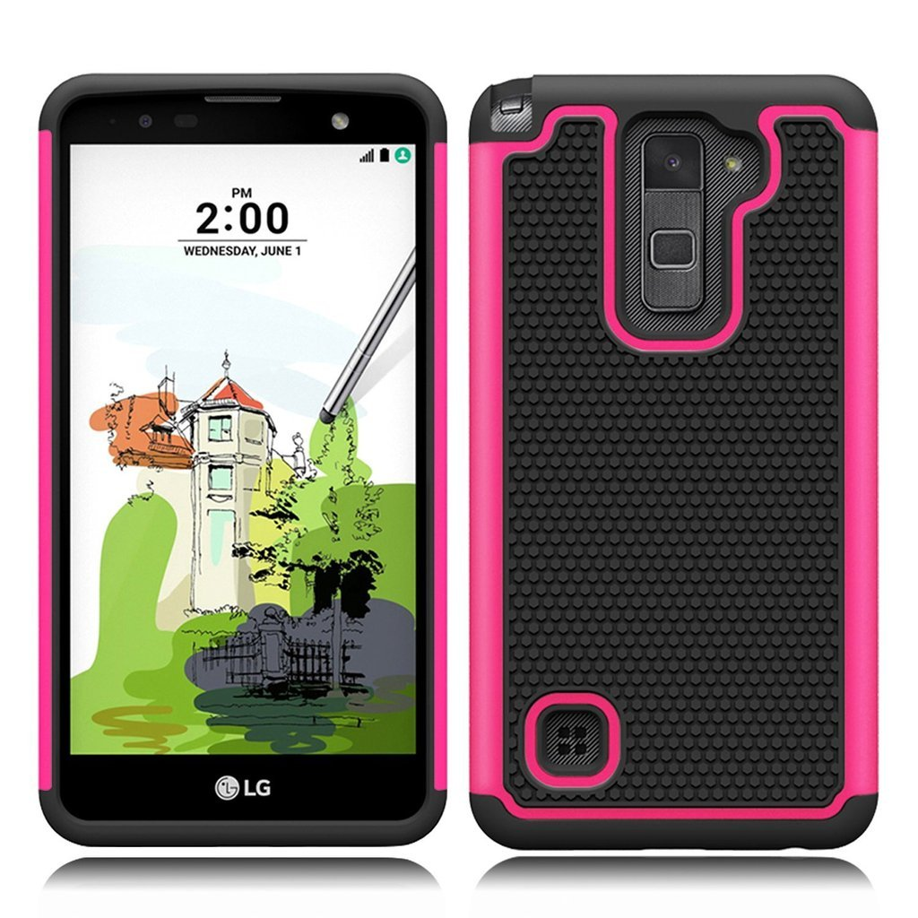 best sneakers ca493 a55d8 LG Stylo™ 2 Plus Case, Skypillar Canada , [Dual Layer][Anti-Drop] Rugged  Impact Heavy Duty Hybrid Shock Proof silicone Hard Cover for LG Stylo™ 2 ...