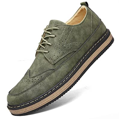 4caff4a668 Minimalist Design Microsuede Leather Mens Leisure Spring Autumn Formal Casual  Dress Flats Oxford Shoes Green