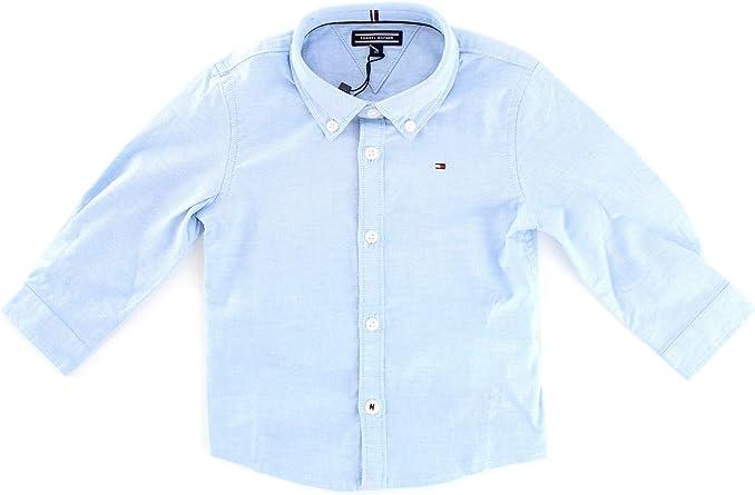 Tommy Hilfiger Boys Stretch Oxford Shirt L/S Blusa para Niños: Amazon.es: Ropa y accesorios