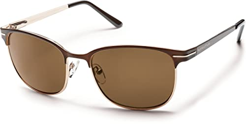 a1a535ccc6 Image Unavailable. Image not available for. Color  Suncloud Optics 2014 Causeway  Polarized Sunglasses (Brown ...