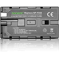 Neewer 7.4V 2600mAh Rechargeable Li-ion Battery Pack Replacement for Sony NP-F550/570/530, Compatible with Sony…