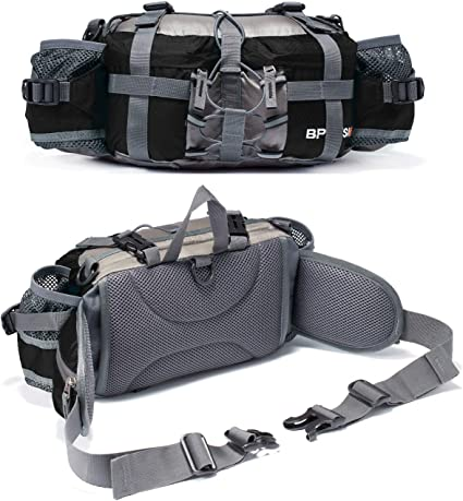 Bp Vision Outdoor Fanny Pack Hiking Camping Fishing Waist Bag 2 Water Bottle Hol