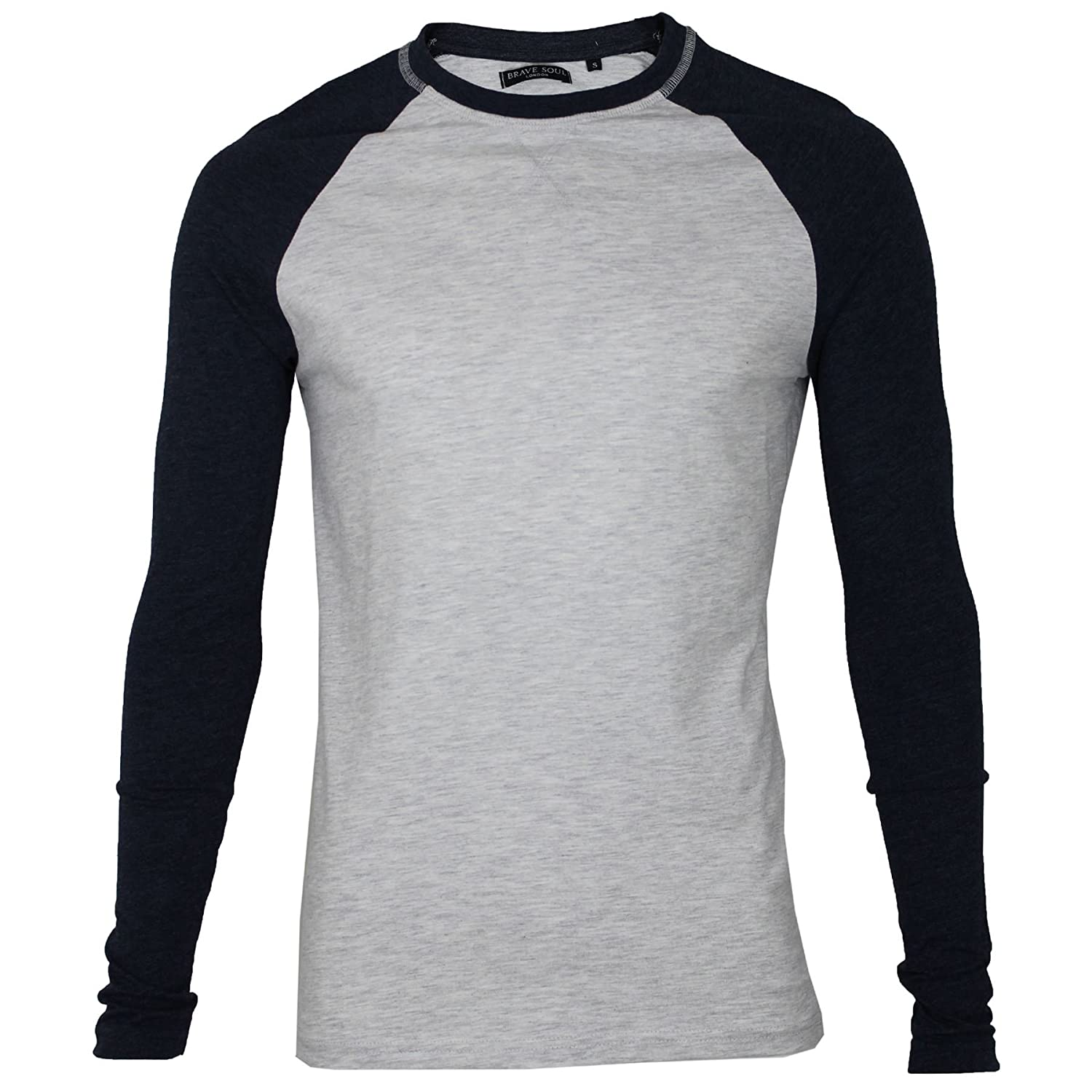 mens long sleeved striped jersey top t shirt by Brave Soul