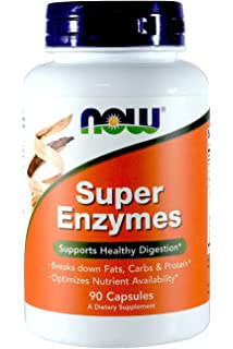 Amazon.com: NOW Super Enzymes, 90 Tablets (Pack of 2 ...