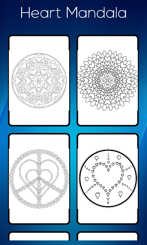 Amazon Heart Mandala Coloring Book Appstore For Android
