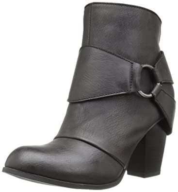 2 Lips Too Women's Too Level Ankle Bootie, Black, ...