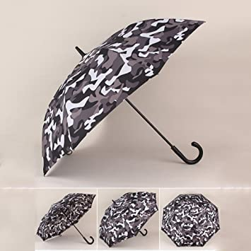 FYX-umbrella Paraguas de los hombres grandes de mango grande de golf golpean el paraguas