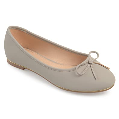 acec9e060e7f Journee Collection Womens Wide Width Bow Ballet Flats Grey