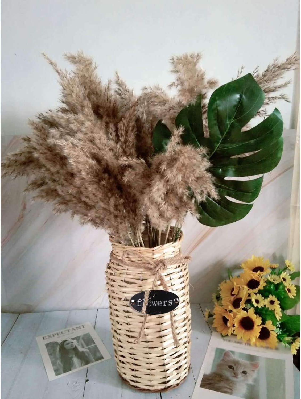 plantes Haude Panier de rangement cylindrique en osier tress/é /à la main vase en osier pour fleurs