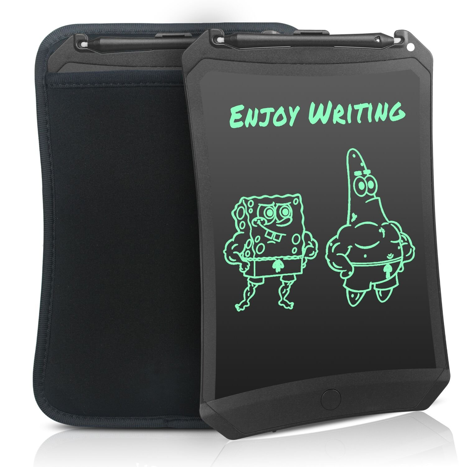 WOBEECO 8.5 Inch LCD Writing Tablet Doodle Robot Pad Drawing Board Portable Environmental Friendly Magnetic Drawing Board Graphics Tablet for Adult Kid and Toddler (Black+case) …