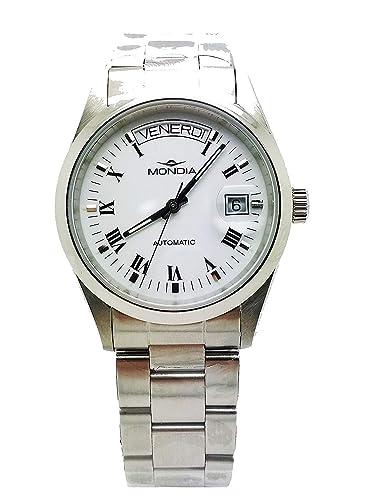 Mondia – Reloj con hora y fecha Automático Swiss ETA 2834/2: Amazon.es: Relojes