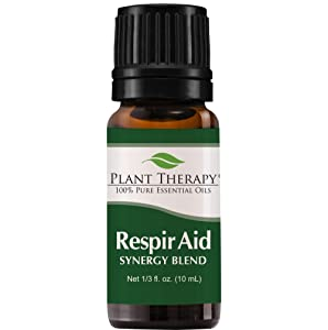 Plant Therapy Respir Aid Essential Oil - Sinus, Airway and Congestion Clearing Synergy Blend | 100% Pure, Undiluted, Natural Aromatherapy, Therapeutic Grade 10 milliliter (1/3 ounce)