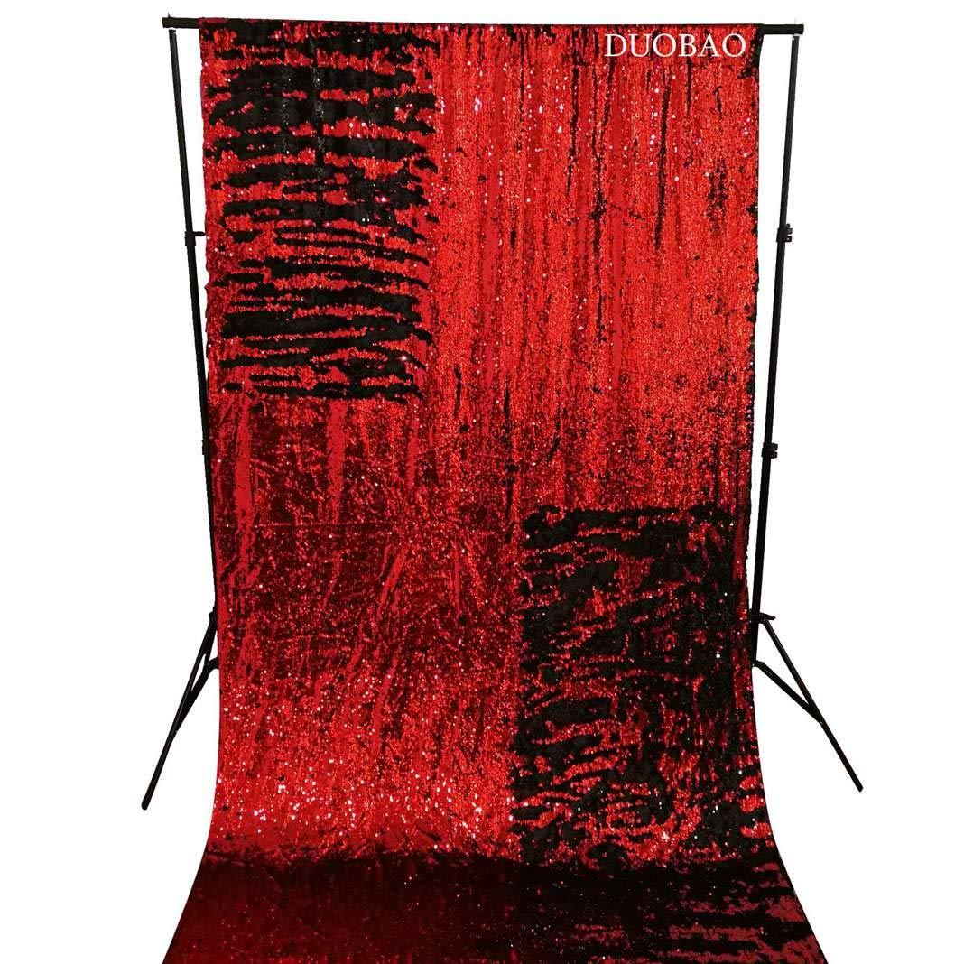 レッド&シルバー スパンコール 写真背景 8x8フィート マーメイド スパンコール 写真 背景 ワイン スパンコール カーテン 8フィートx8フィート 魚のうろこデザイン カーテン-1008k 6FTx6FT Sequin Backdrop Mermaid 6FTx6FT Reversible Wine to Black B07L3PJ387