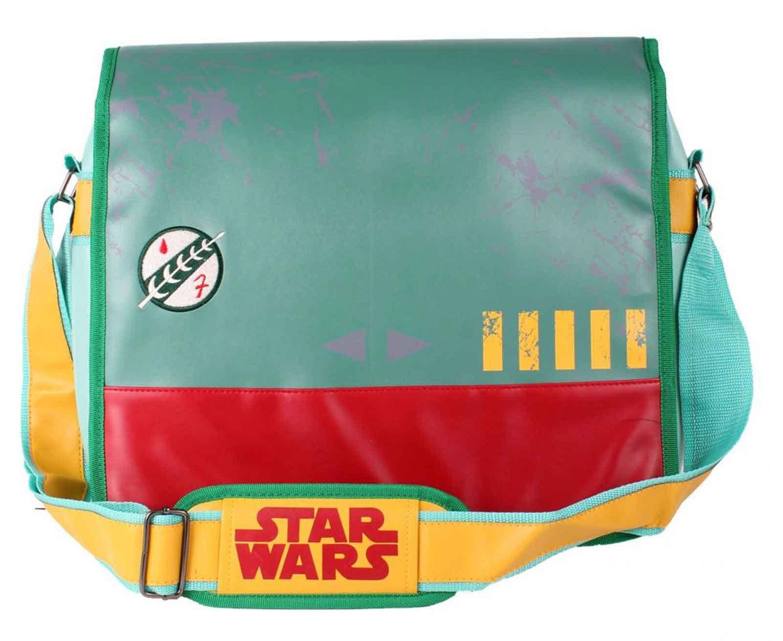 Star Wars Messenger Bag Boba Fett Uniform Logo Official Green