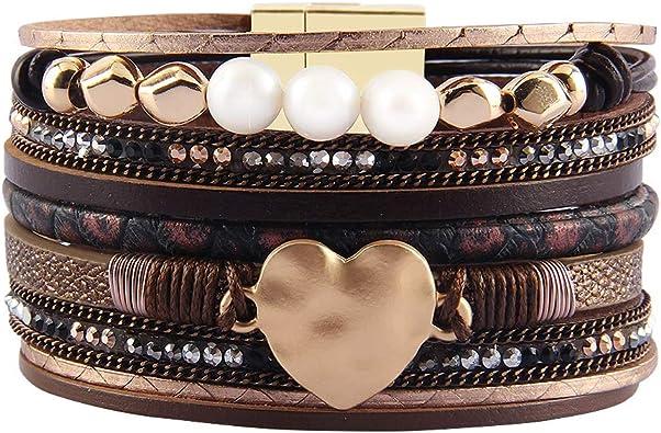 femmes bracelet cuir