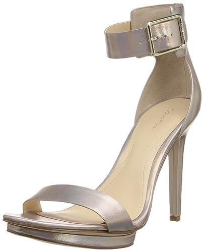 356d10034253 Calvin Klein Vivian Womens Pink Open Toe Leather Dress Sandals Shoes UK  7.5  Amazon.co.uk  Shoes   Bags