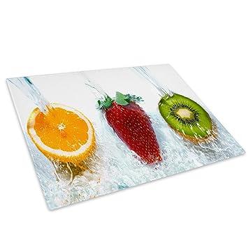 Food Preparation & Tools Home, Furniture & DIY Yellow Grey Black Cool Glass Chopping Board Kitchen Worktop Saver Protector