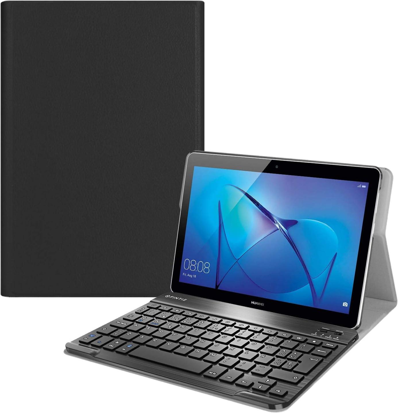 Fintie Funda con Teclado Español Ñ para Huawei MediaPad T3 10 - Carcasa SlimShell con Soporte y Teclado Español Bluetooth Inalámbrico Magnético ...