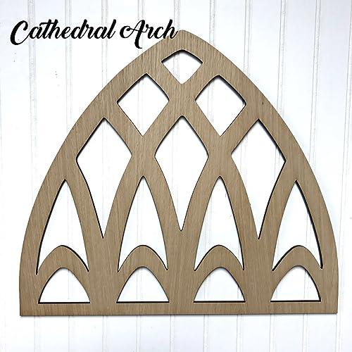 Amazon Com Cathedral Arch Wood Cutout Shelf Decor Handmade