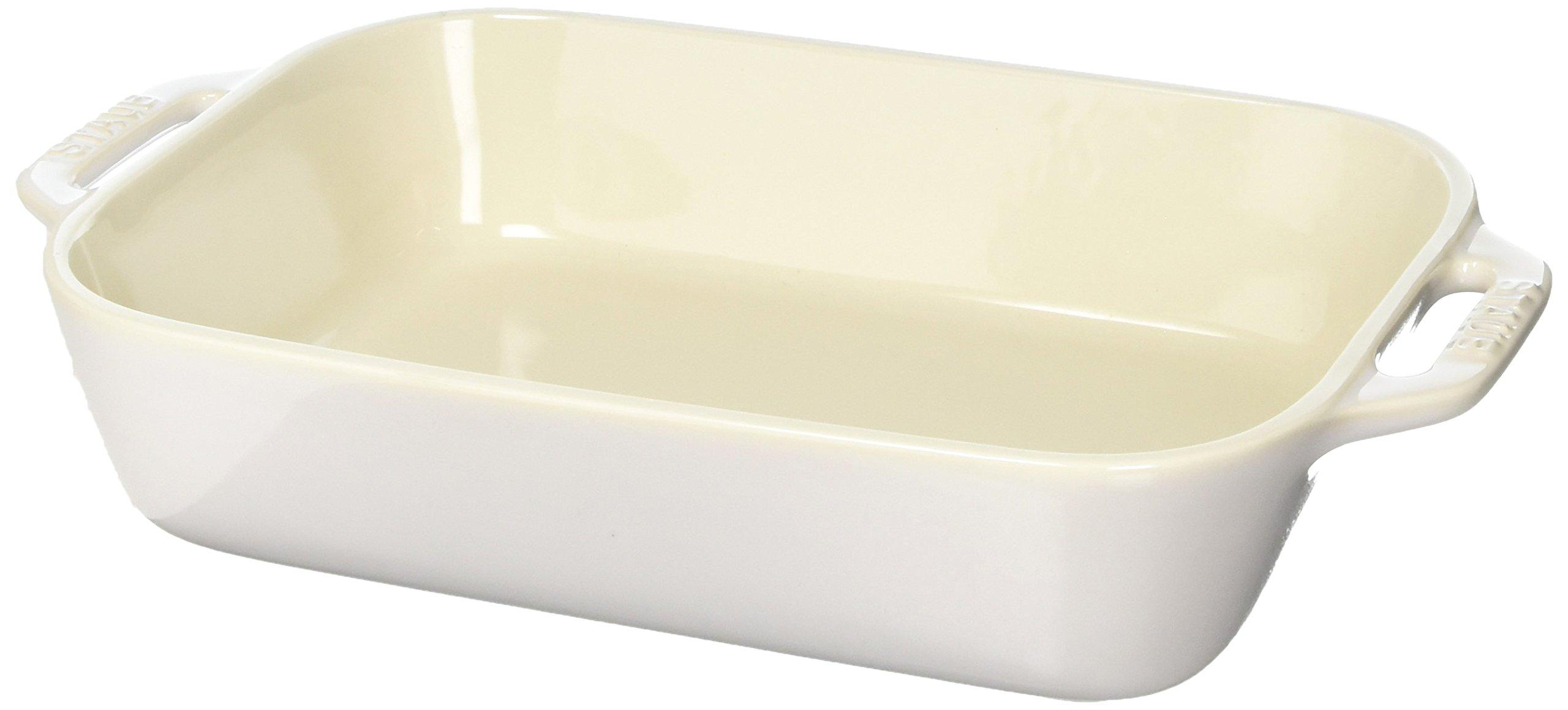 Staub 40511-883 Ceramics Rectangular Baking Dish, 10.5x7.5-inch, Rustic Ivory by STAUB (Image #2)