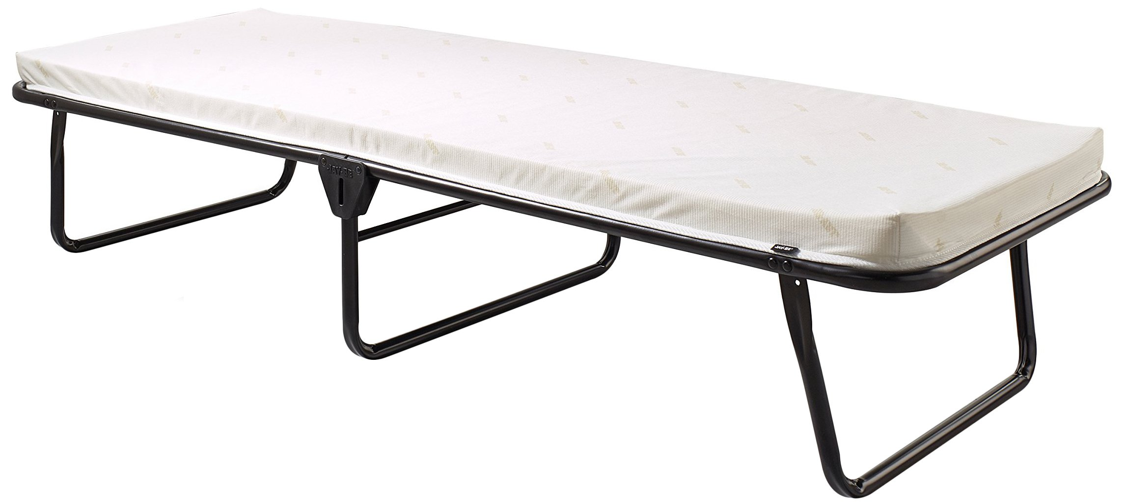 Jay-Be Saver Folding Bed with Airflow Mattress, Regular, Black/White by Jay-Be