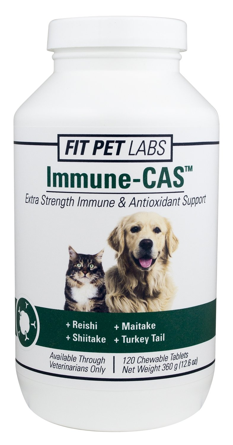 Fit Pet Labs Immune-CAS Extra Strength Immune & Antioxidant Support For Dogs and Cats - 120 Chewable Tablets