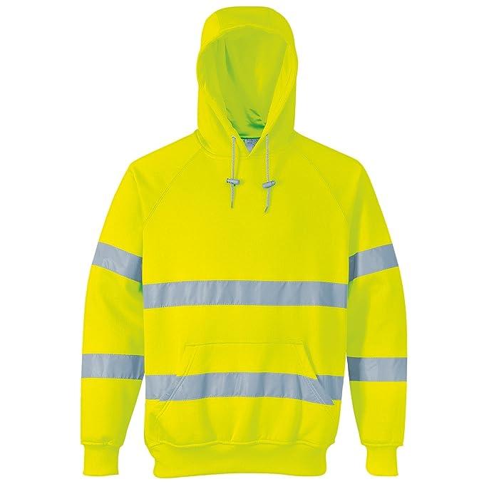 Portwest - Sudadera con capucha de seguridad de alta visibilidad - Trabajar / Reflectante (Pequeña