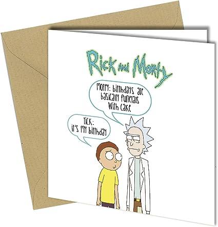 Let/'s Party Rick and Morty Carte D/'Anniversaire