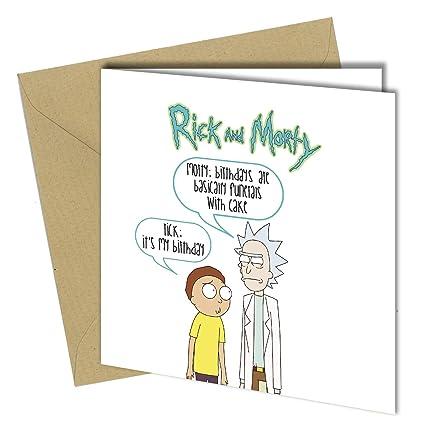 509 Tarjeta de felicitación de cumpleaños graciosa Rick and ...