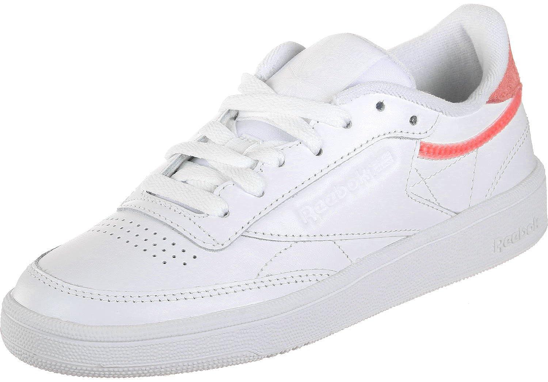 Reebok Club C 85 Trim Lthr - Weiß snowy grau - Tennis Outdoor-Schuhe-Damen